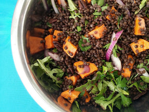 lentils sweet potato salad