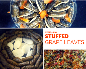 stuffed grape leaves vegan recipe | Life & Apples