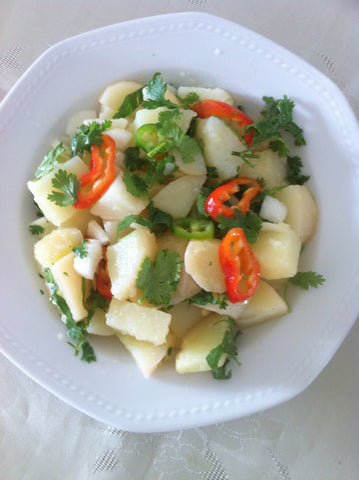 potato cilantro salad recipe - life & apples