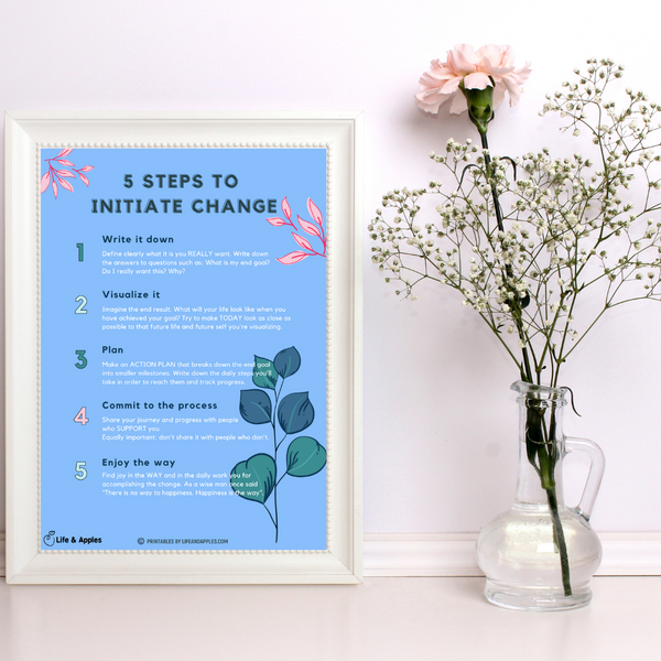 life and apples free printables