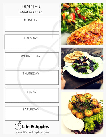 Free Meal Planner Printable, Life & Apples