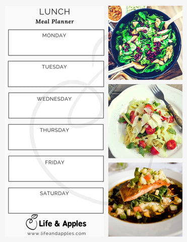 Meal Planner Printable - Life & Apples