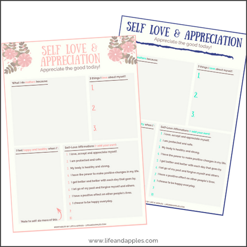 free printable self love