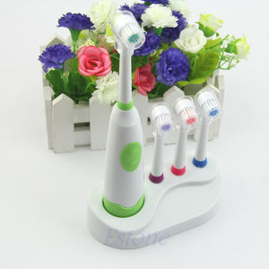 Electric toothbrush waterproof revolving toothbrush + 3 Brush Heads