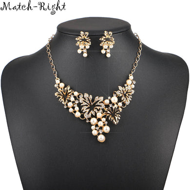 New Arrival Simulated Pearl Statement Necklace