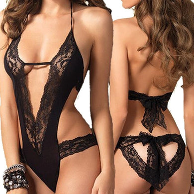 New Sexy Lingerie, Black Lace Spliced Erotic Costume