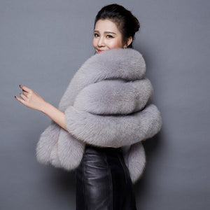 faux fox fur pashmina super large patchwork wraps bride