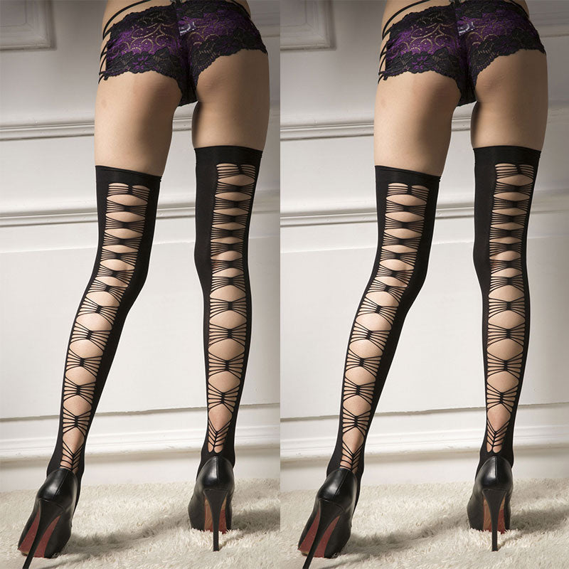 6eebb4533b991 ... New Style Hollow Sexy Stockings Over Knee Stockings Fishnet Tights  Stockings ...