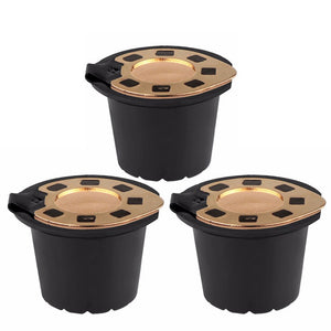 Reusable Nespress Gold Reusable Nespresso coffee Capsules (2-pack) | Compatible with Refilterable Essenza, Inissia, Milk