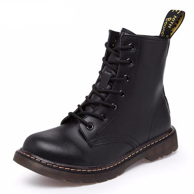 Genuine leather women martin boots