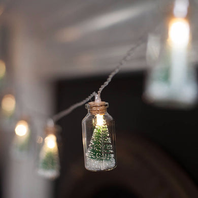Christmas Tree Glass Jar Bottle String Lights with 20 LED Battery operated for Party Fairy Lights Christmas Deocration