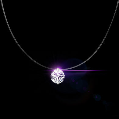 Luxury Silver Color Crystal Necklace And Invisible Transparent Fishing Line