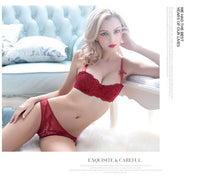 Fashion sexy bra set underwear intimates embroidery lace temptation