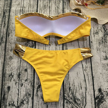 2018 New Bikinis Set Push Up Paded Solid Swumsuit