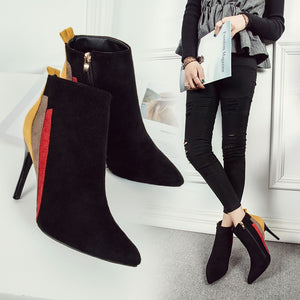 New Arrival Mixed Colors Ankle Boots