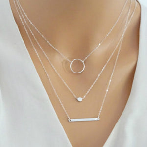Wild Aperture Metal Rods Necklace Layered Necklace Women
