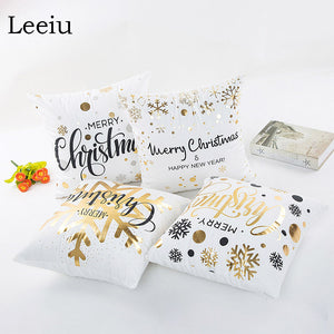 Leeiu 45x45cm Christmas Decorations Pillow Case Decorations