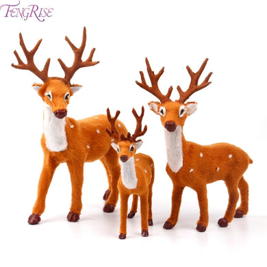 Christmas Decorations For Home 2019 decoratie Plush Reindeer Elk Deer Pendant Ornaments New Year 2019