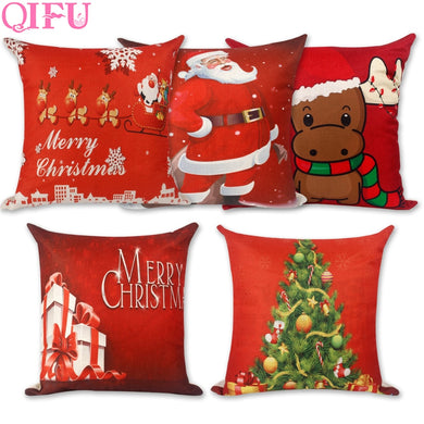 2018 Christmas Noel Pillowcase Gifts 45x45cm Christmas Throw Pillow Covers