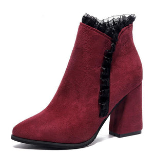Women Martin Boots Big Size 35-40 Ankle Boots With Warm Fur
