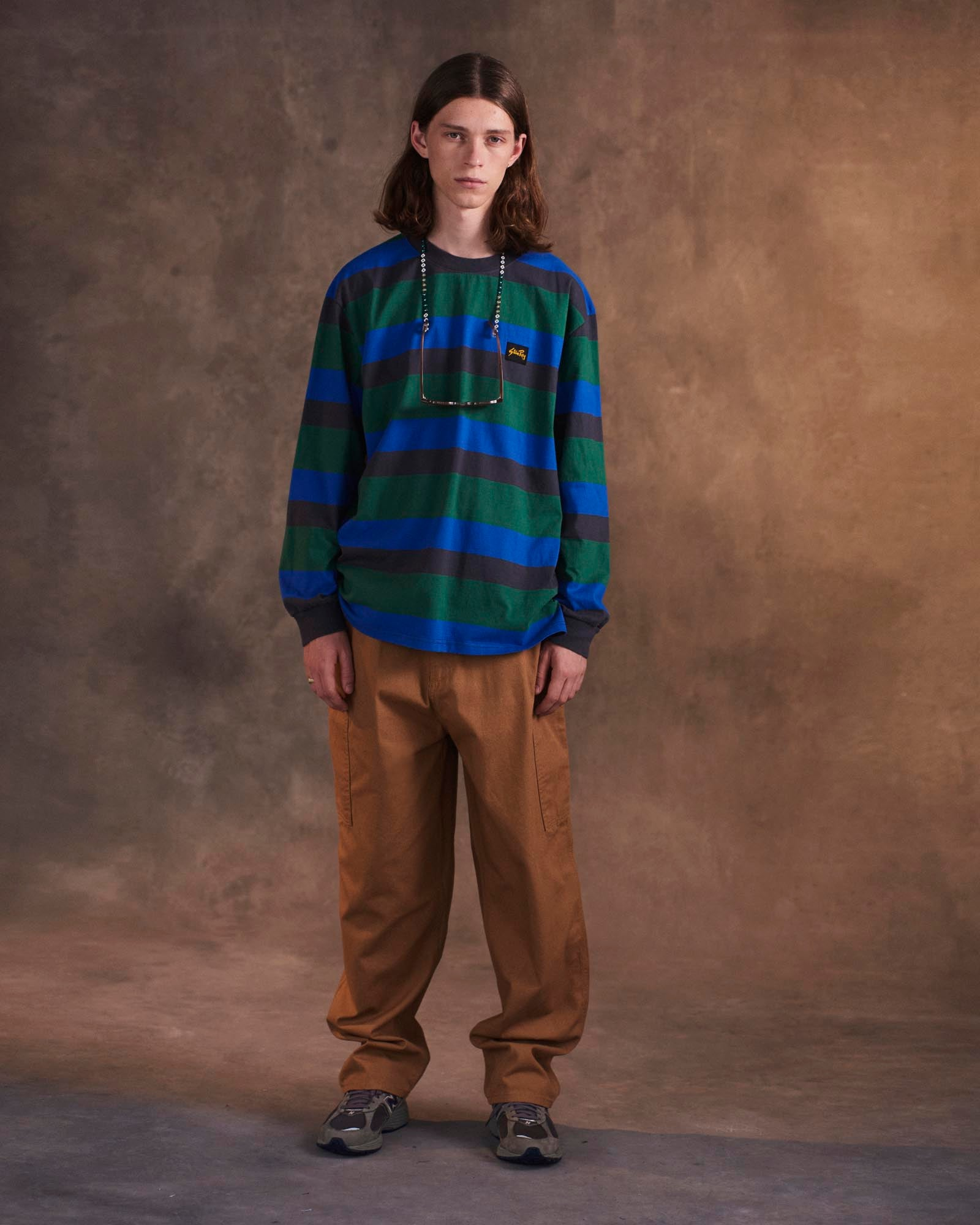 Stan Ray FW20 Lookbook duck pant and stripe tee