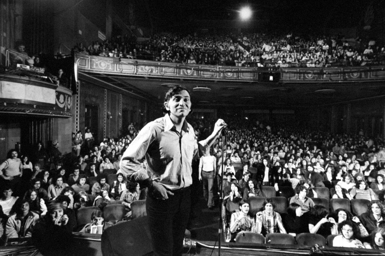 Bill Graham on stage Fillmore east