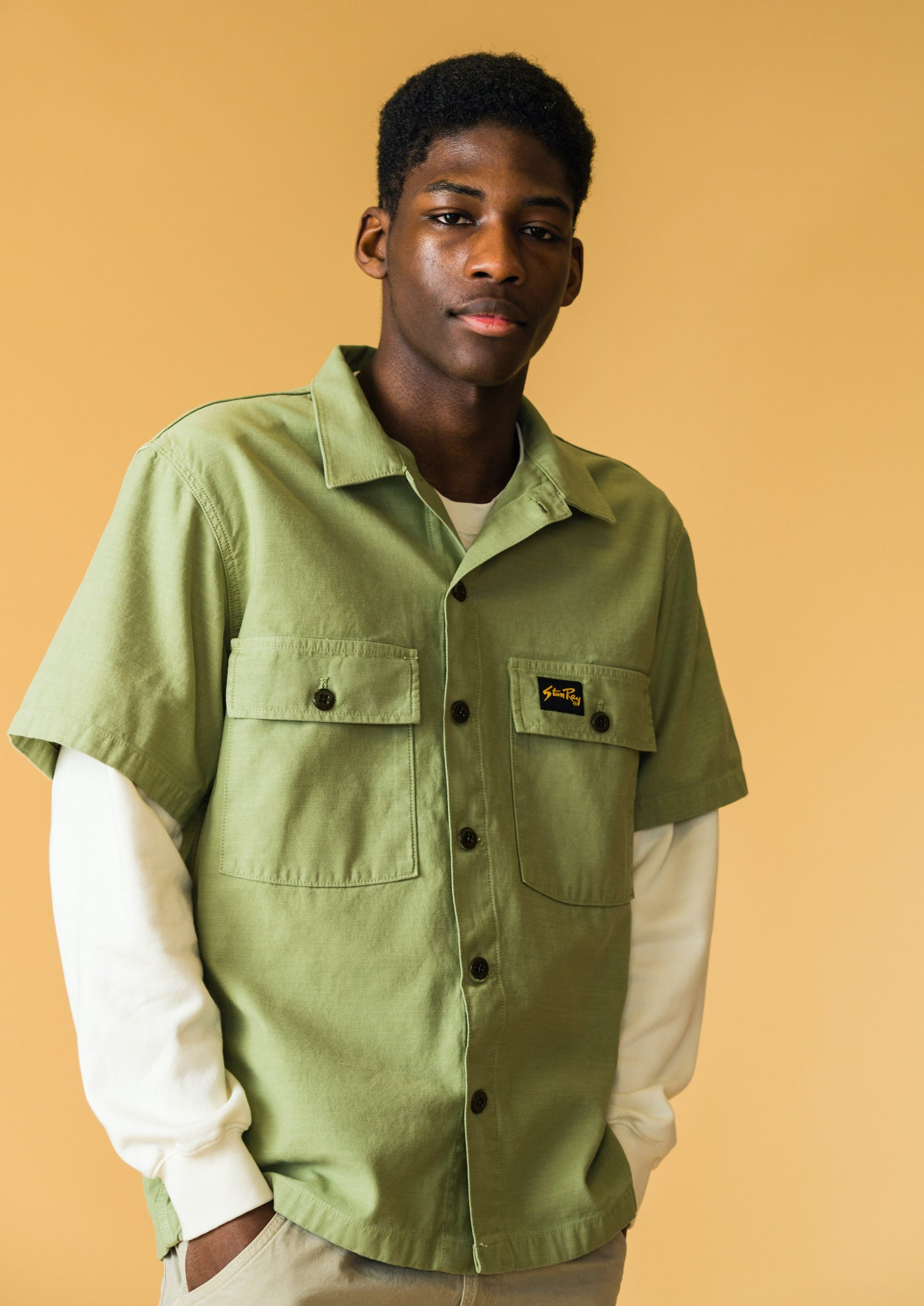 Stan Ray SS21 SS CPO Shirt Olive