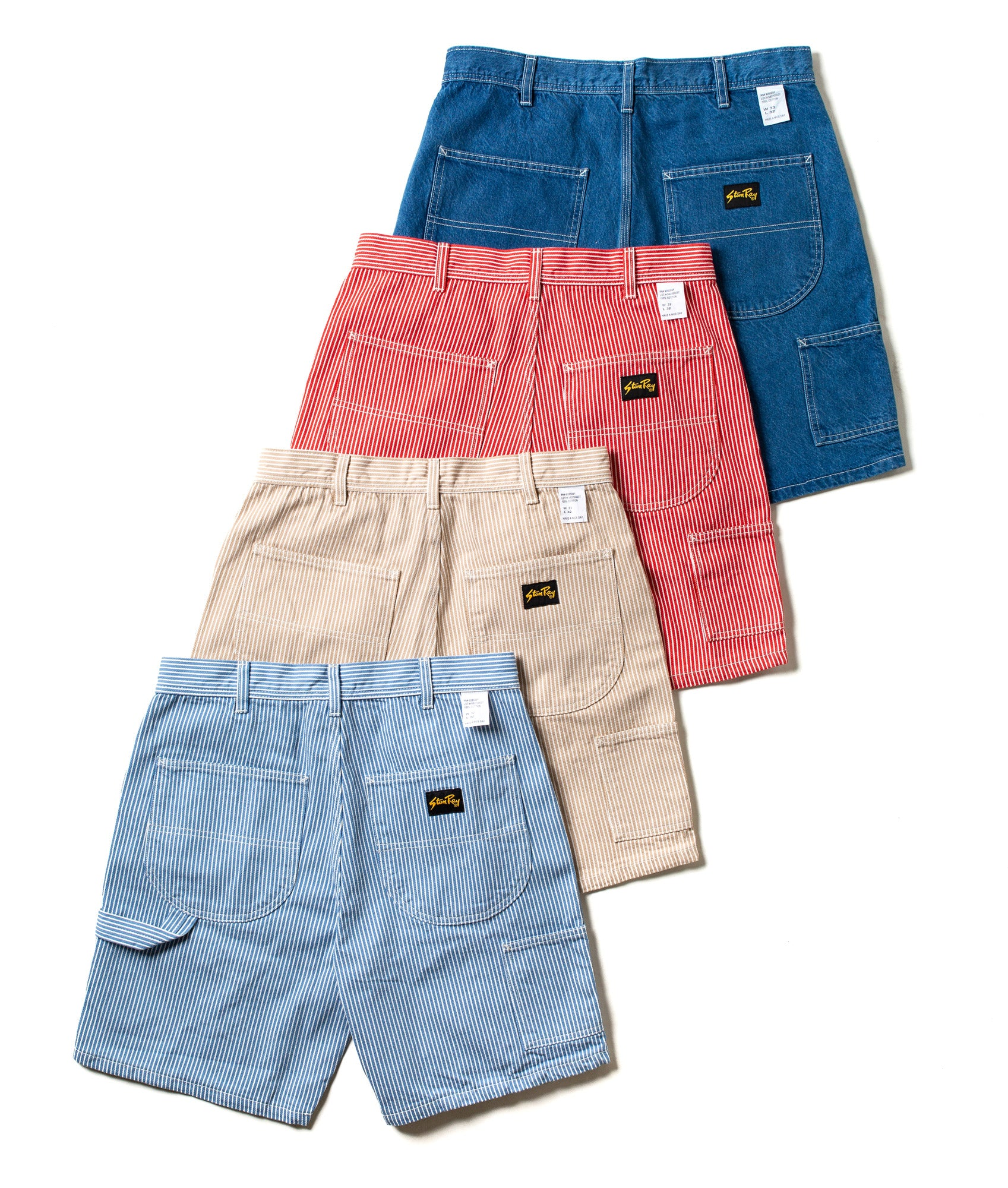 Stan Ray painter shorts in seasonal colours