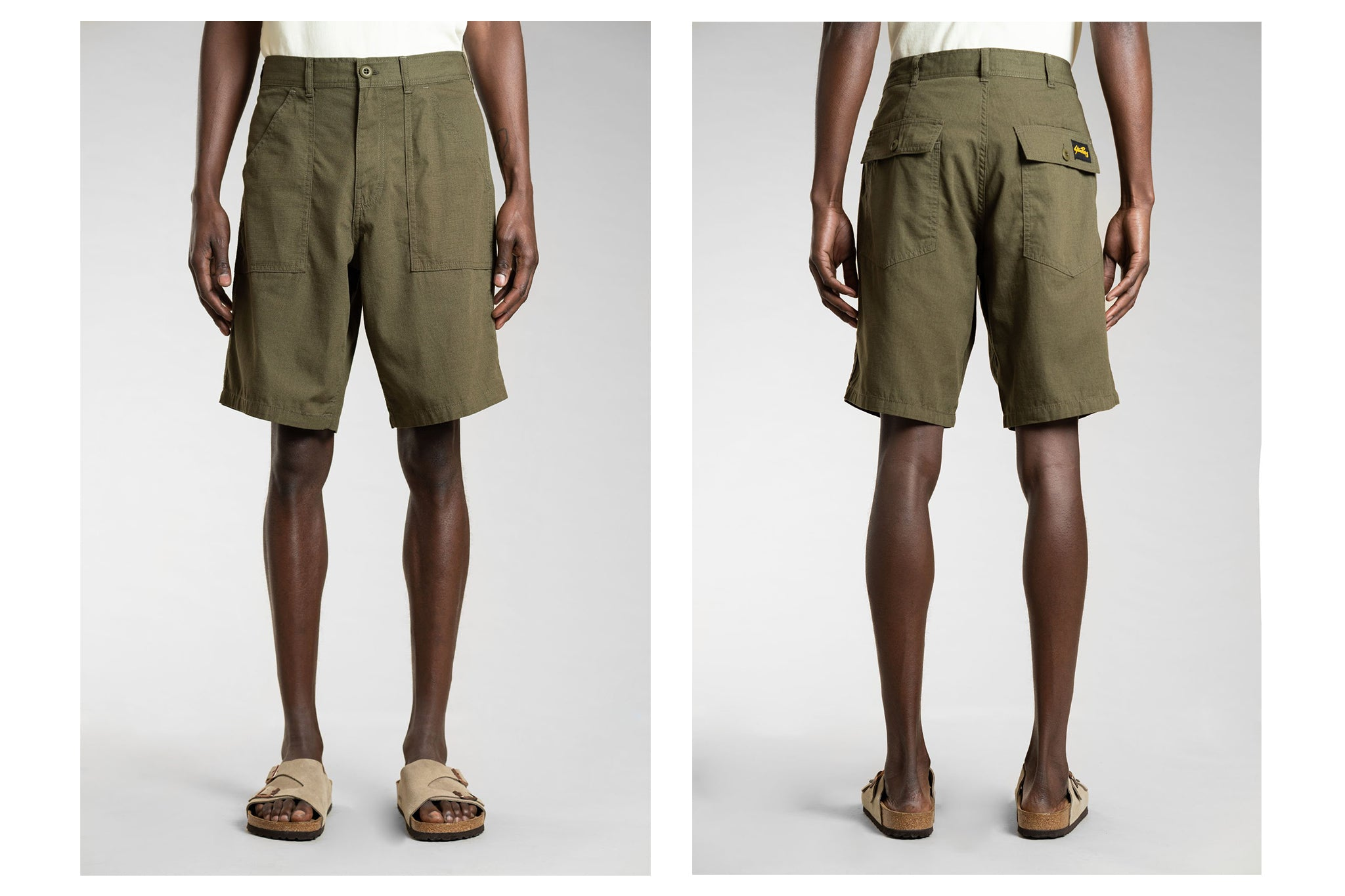 Stan Ray Fat Short Olive - Front and back
