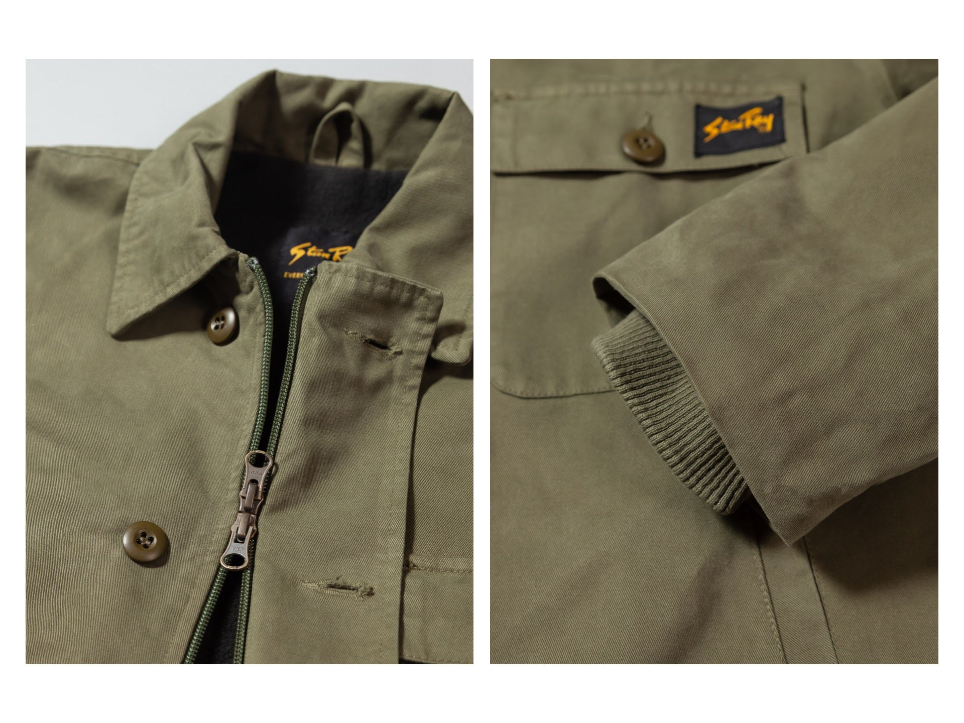 Stan Ray A2 deck jacket details
