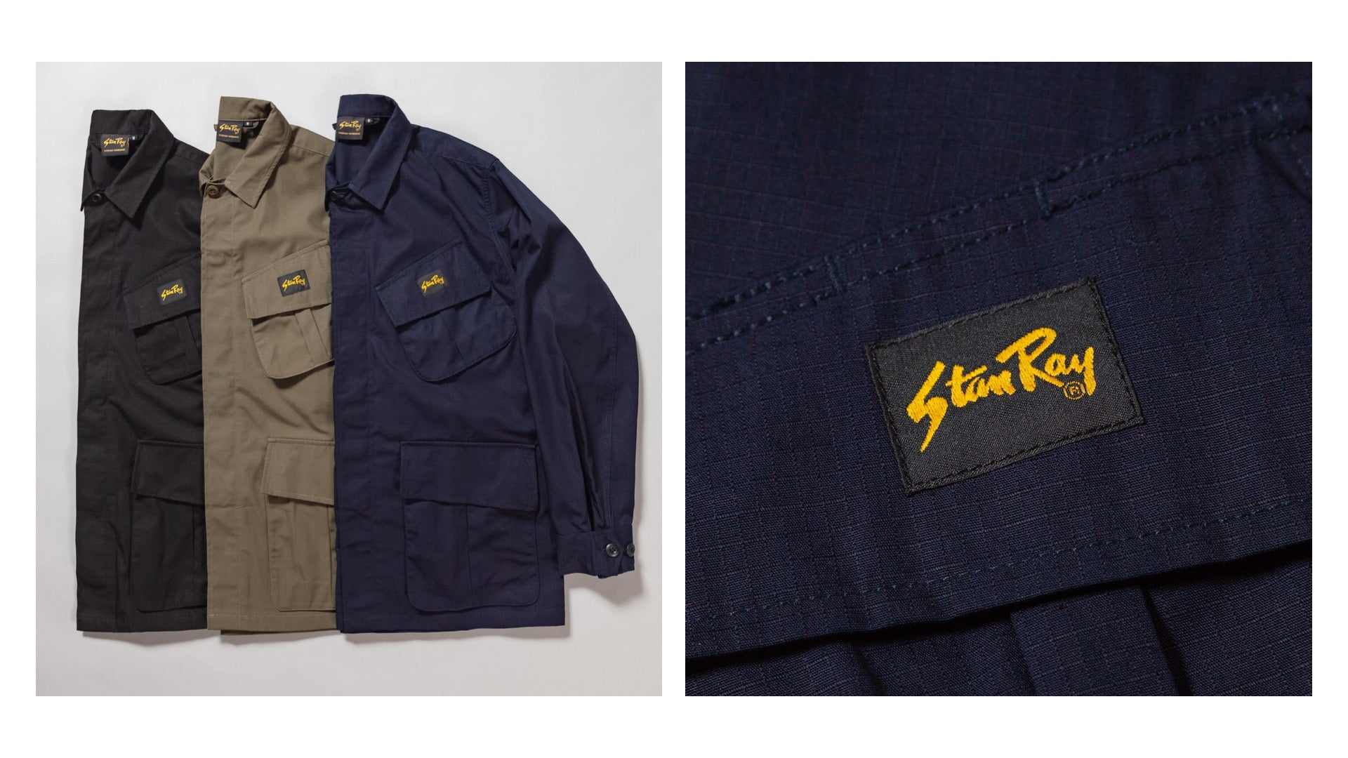 Stan Ray Tropical Jackets and detail