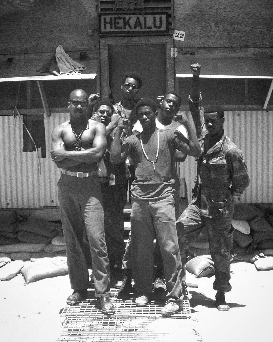 Soldiers during the Vietnam war wearing og-107 fatigues