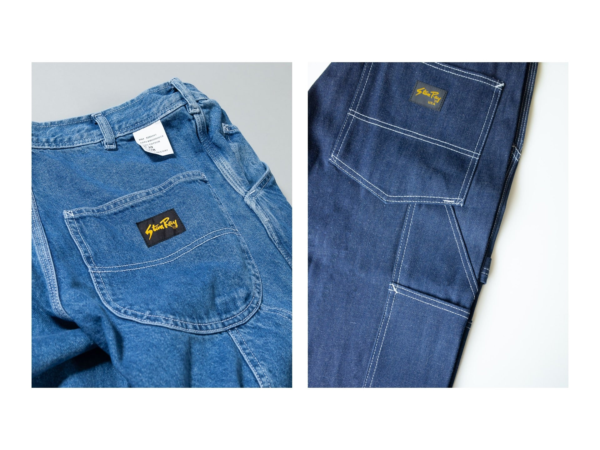 Stan Ray Rinse and dry denim details
