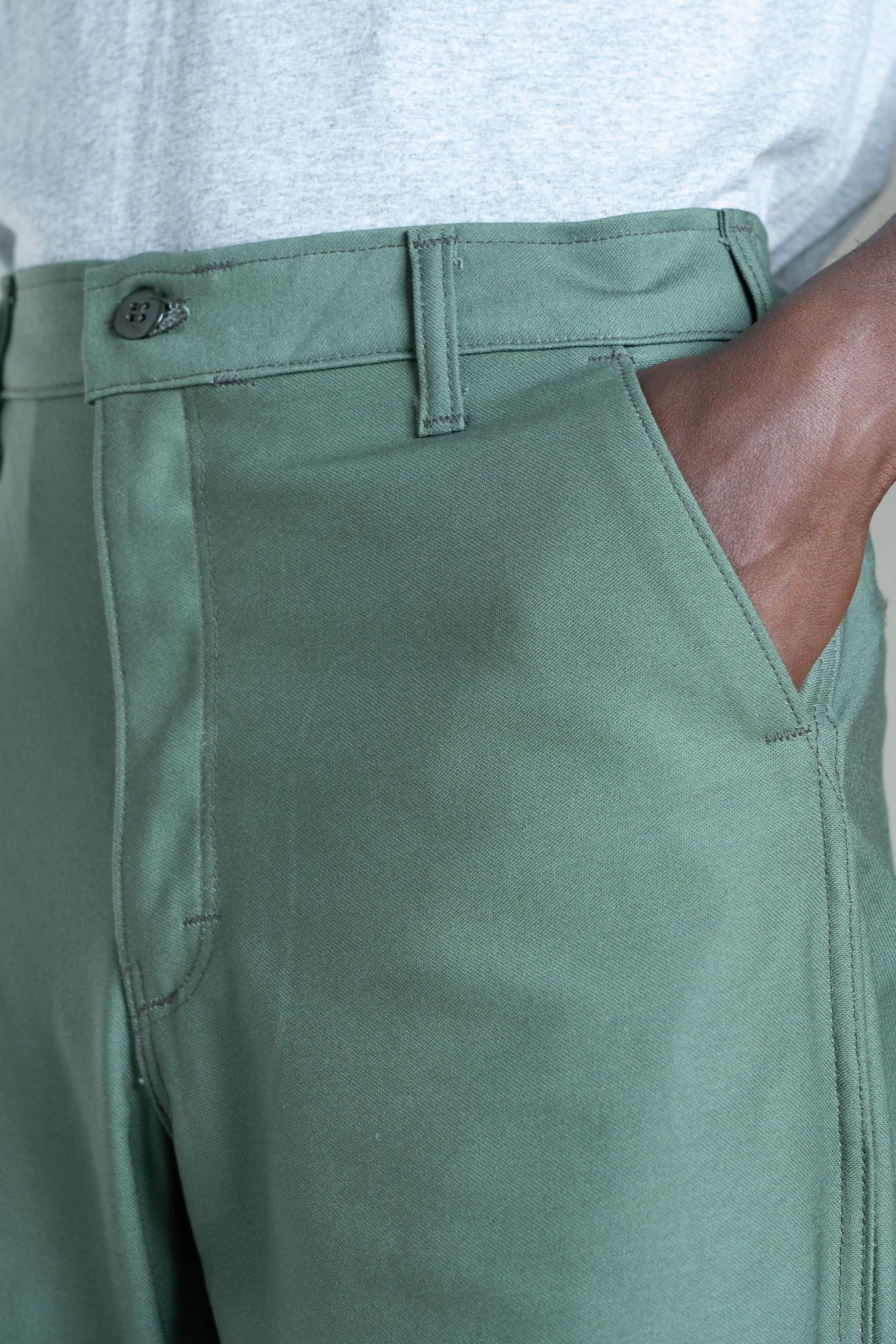 Easy Chino (Olive Sateen) - Stan Ray