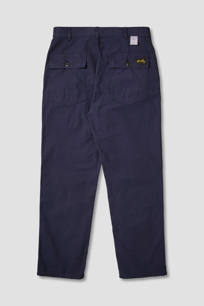 Fat Pant (Navy Sateen)