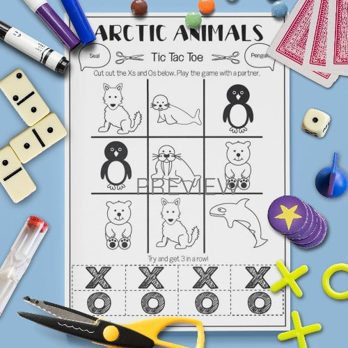 Arctic Animals 'Tic Tac Toe' Game