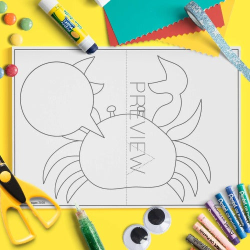 ESL English Kids Under The Sea Pop Up Cards Worksheet