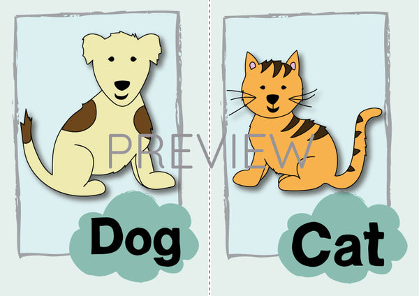 Cat and Dog Flashcard