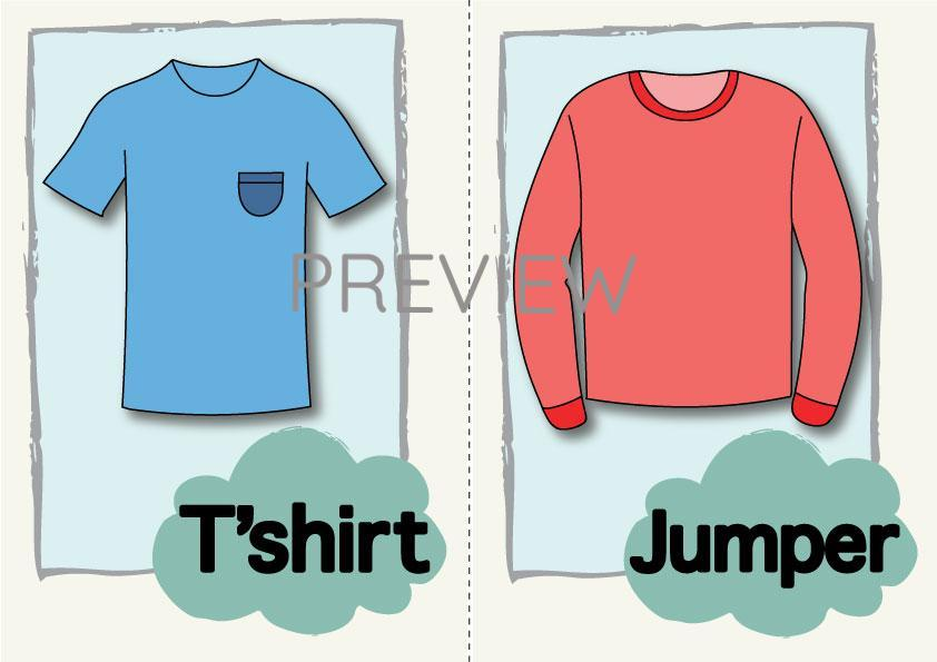 T'shirt and Jumper Flashcard