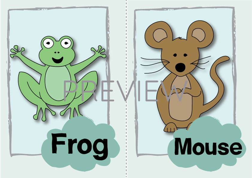 Frog and Mouse Flashcard