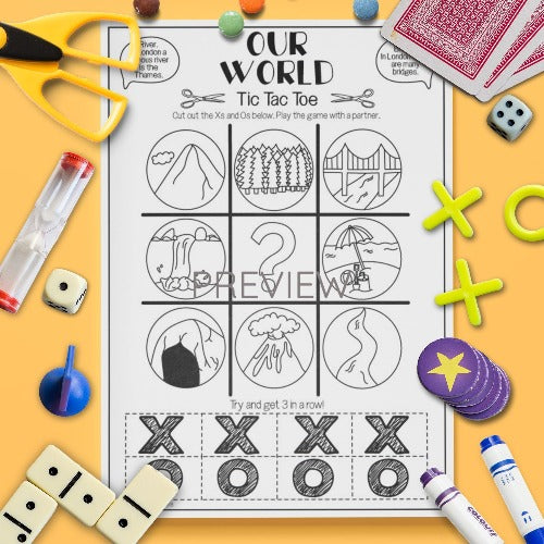 ESL English Kids Our World Tic Tac Toe Game Worksheet