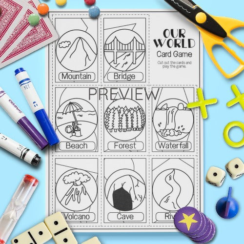 ESL English Kids Our World Card Game Worksheet
