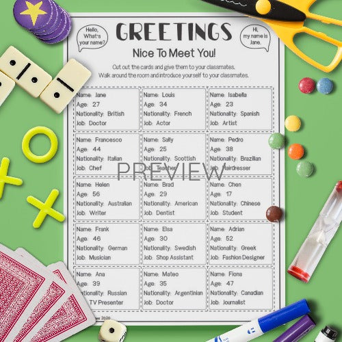 Greetings 'Conversation' Card Game