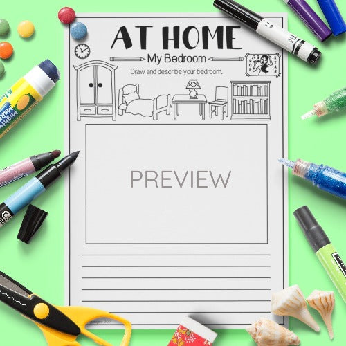 ESL English Kids Home My Bedroom Worksheet