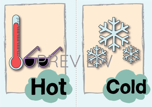 Hot and Cold Flashcard
