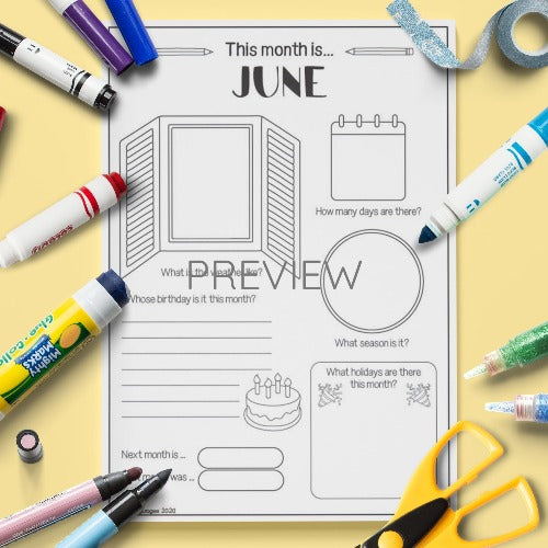 ESL English The Month Of June Activity Worksheet