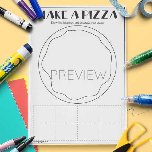 ESL English Make A Pizza Craft Activity Worksheet