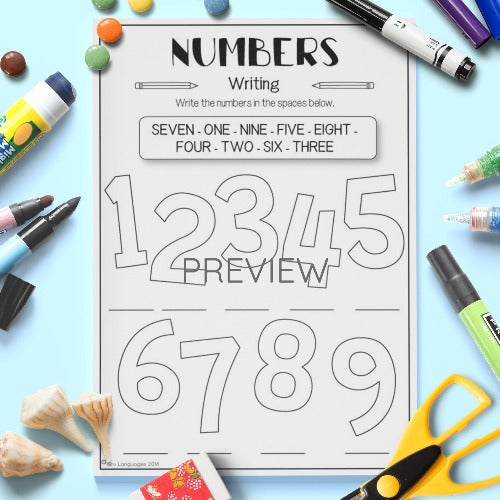 Number Writing Activity Worksheet