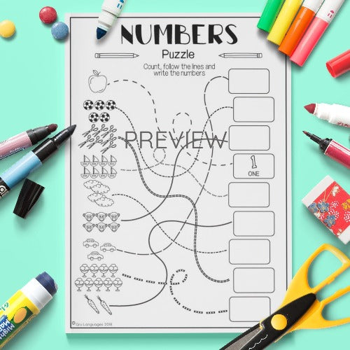 Numbers Puzzle Worksheet