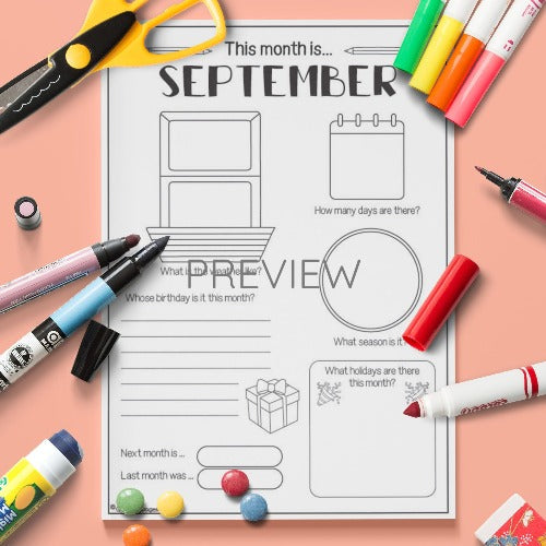 ESL English The Month Of September Activity Worksheet